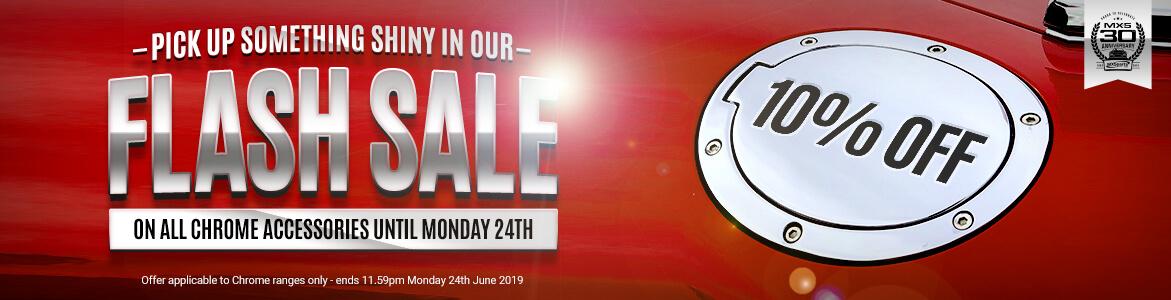 Flash Sale! 10% Off ALL Interior & Exterior Chrome!