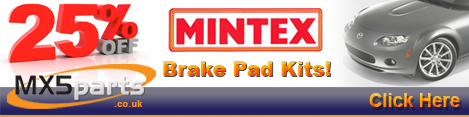 25% Off Mintex Brake Pad Kits!