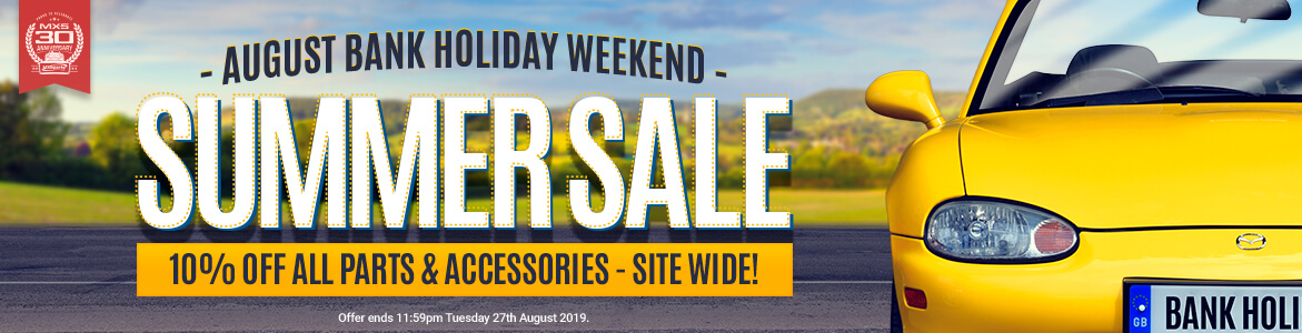 10% Off EVERYTHING This Bank Holiday Weekend