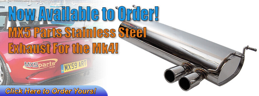 MX5 Parts Stainless Exhaust for the Mk4!