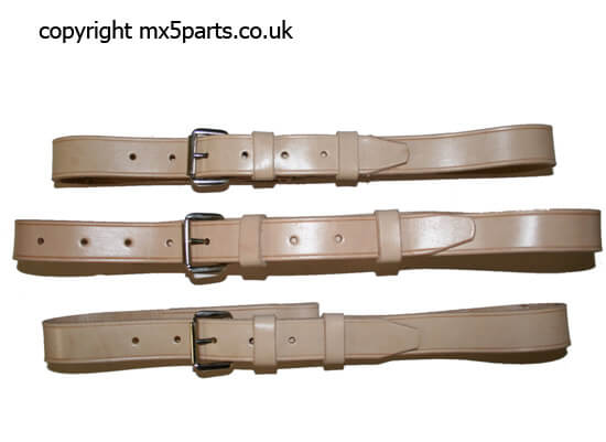 Luggage Straps, Tan Leather, Set of 3
