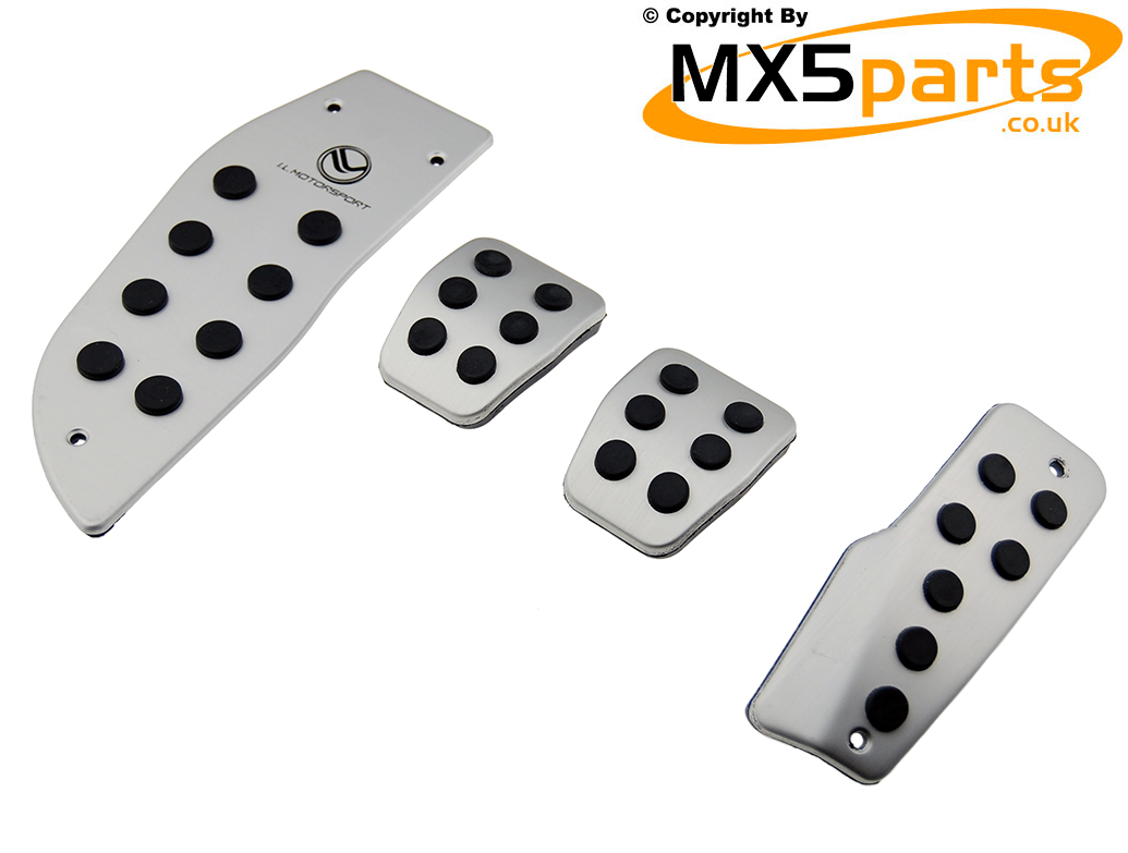 Mk3 35 375 Mx5 2005 2015 Mx 5 Interior Parts 1998 Miata Fuse Box Location Aluminium Pedal Cover Set Mazda