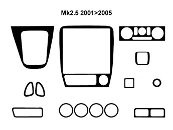 Dash Kit, Mk2.5 2001>2005 Left Hand Drive