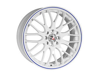 "15"" Calibre Motion White Alloy Wheels, MX5 Mk1/2/2.5"