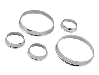 Chrome Instrument Rings, Vintage Style, MX5 Mk1