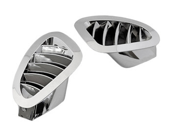 Chrome Side Demister Vents, Mazda MX5 Mk2/2.5