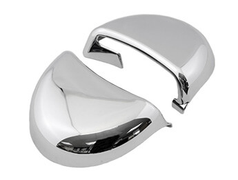 Chromed Seatbelt Top Cover, MX5 Mk3/3.5, Soft Top Only