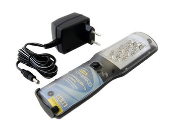 Compact Rechargable LED Inspection Lamp, European Mains Adaptor