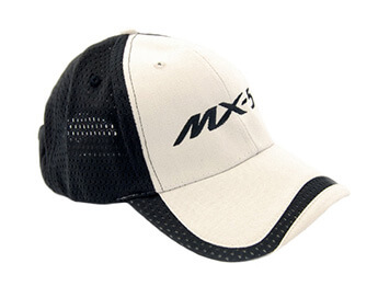 Cap, Black & White With Large MX5 Logo