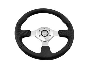 Sumex Black Leather Steering Wheel, MX5 Mk1