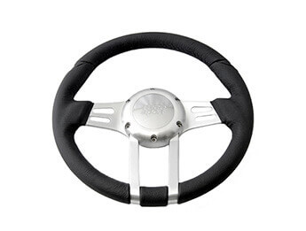 "Sumex ""Tango Series\"" Black Leather Steering Wheel, MX5 Mk1"