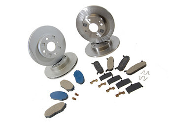 Discs & Pads Package, Genuine Mazda, Mk2/2.5 Standard Brake
