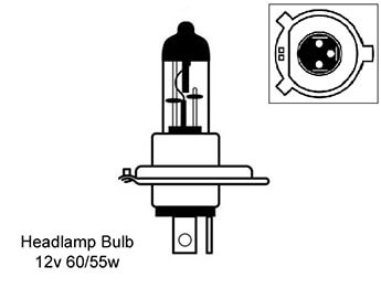 Headlamp Bulb Standard, MX5 Mk1