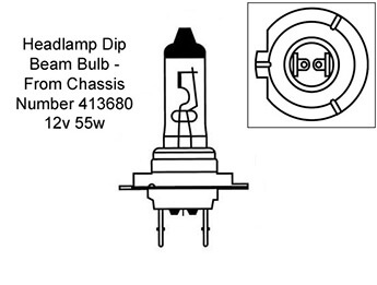 Headlamp Bulb, Dipped Beam, MX5 Mk3/3.5/3.75