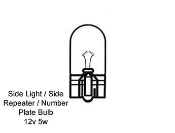 Rear Number Plate Lamp Bulb, MX5 Mk4