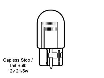 Stop/Tail Light Bulb, Mazda MX5 Mk3/3.5