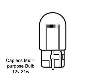 Rear Fog Lamp Bulb, Mazda MX5 Mk2
