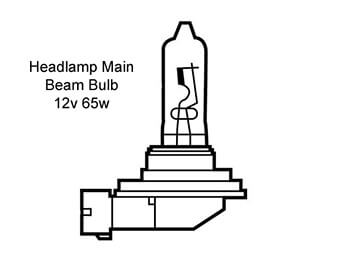 Headlamp Bulb, Main Beam, MX5 Mk3 Only