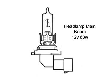 Headlamp Bulb, Main Beam, MX5 Mk3.5/3.75