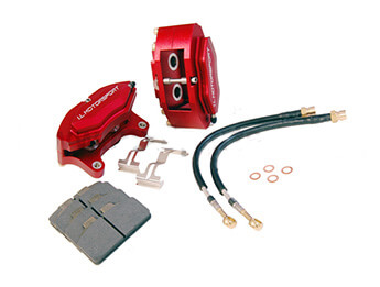 Front Caliper Kit, Performance Upgrade, Mk1/2/2.5