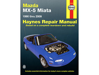 Haynes Repair Manual, Mazda MX5 Mk1/2/2.5 & Mk3, 3.5 & 3.75