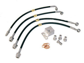 Brake Hose Set, Stainless Steel, MX5 Mk2.5 Big Brake