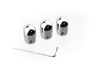 Chrome Heater Slider Knobs, MX5 Mk1
