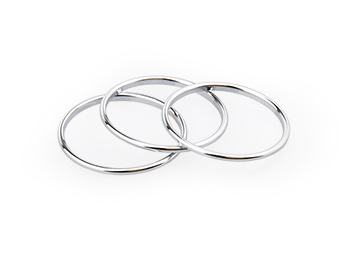 Chrome Instrument Rings, Small, MX5 Mk1