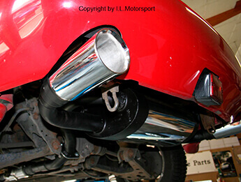Stainless Steel Exhaust, IL Motorsport Twin Exit, MX5 Mk1