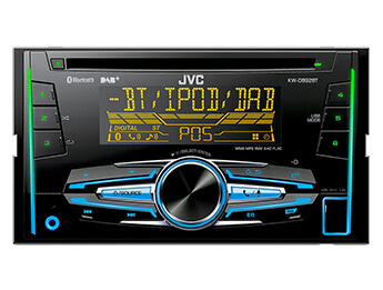 JVC Double Din DAB CD/MP3/USB/iPod/iPhone Bluetooth Reciever