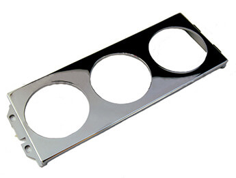 Instrument Holder, 3 Hole Chromed Finish, Mazda MX5 Mk1