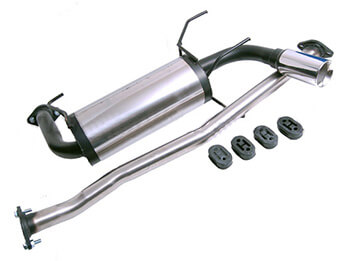 Stainless Steel Exhaust, IL Motorsport Single Exit, MX5 Mk1