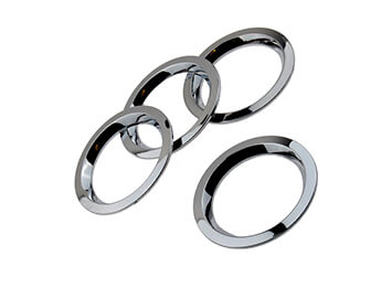 Chrome Dashboard Air Vent Rings, MX5 Mk1/2/2.5 1989>2005