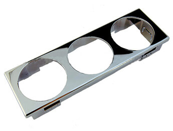 Instrument Holder, 3 Hole Chromed Finish Mazda MX5 Mk2/2.5 & 3