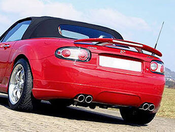 Rear Spoiler with Brake Light, MX5 Mk3/3.5/3.75 Convertible
