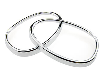 Chromed Door Mirror Ring Trim Set, Mazda MX5 Mk3