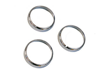 Chrome/Satin Heater Control Knob Rings, MX5 Mk3