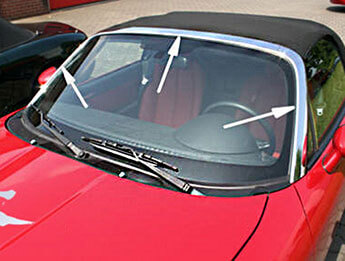 Chrome Windscreen Surround, Individual Parts, MX5 Mk3/3.5/3.75