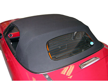 Vinyl Hood with Frame & Rainrail, Genuine Mazda, Mk3/3.5/3.75