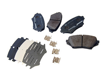 Front Brake Pads, Genuine Mazda, MX5 Mk3/3.5/3.75