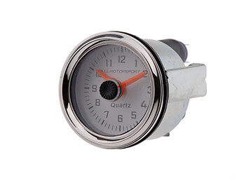 Analogue Clock with White Face & Chrome Rim, Mk1/2/2.5