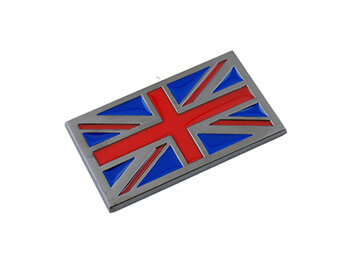 Union Jack Badge, Gunmetal