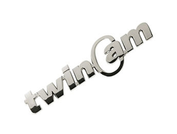 Chrome TwinCam Badge, All MX5 Models