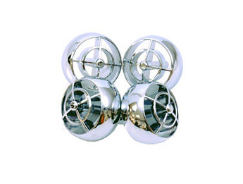 Chromed OE Design Air Vent Balls, MX5 Mk1/Mk2/2.5