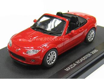 Mazda MX5 Mk3 Roadster 1:43 Scale Model, True Red
