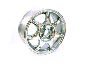 Alloy Wheel, 6J x 14, Mazda MX5 Mk1 Chrome Finish