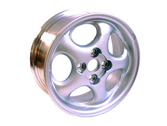 Alloy Wheel, 6J x 14, Mazda MX5 Mk2 Rough Silver Finish