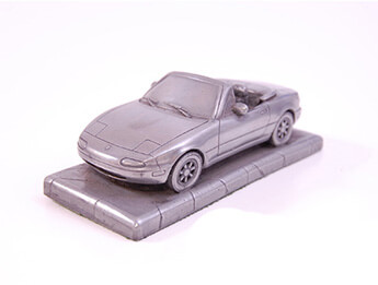 Mazda MX5 Mk1 Pewter Effect 1/43 Scale Model, LHD
