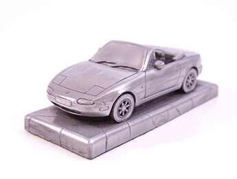Mazda MX5 Mk1 Pewter Effect 1/43 Scale Model, RHD