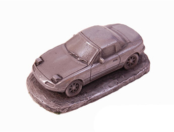 Mazda MX5 Mk1 Pewter Effect 1/92 Scale Model, With Hardtop Fitte